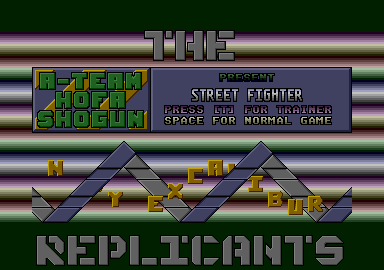 This intro was used for the game 'Street Fighter' (I personally love this one: I spent my time watching it in the early years, before I got into demo disks)