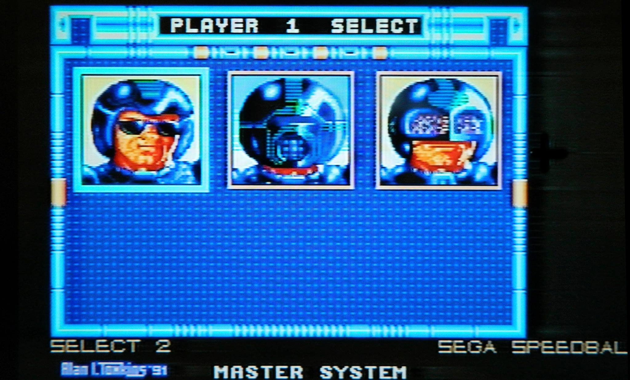 Alan did the Sega Mastersystem conversions of 'Xenon 2' and 'Speedball' (of which we see a shot over here)