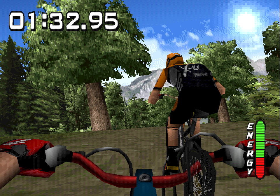 'No Fear Downhill Mountainbiking' on the PS1. 'In the end I'm not so proud of the result, but I'm proud of the effort put into the project by the team.'