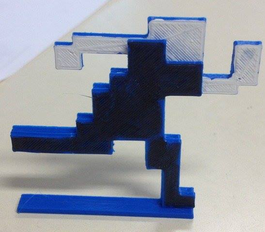A very early 3D print of a possible figurine in the physical collectors edition of the game 'Escape 2042'.