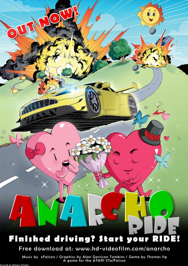 The promotion campaign for Anarcho Ride was so professionally made. This is one of the many posters designed by Melanie Schober.