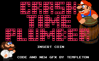 The title screen of 'Crash Time Plumber'.
