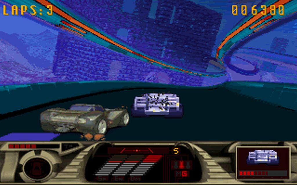 MegaRace on PC (DOS)