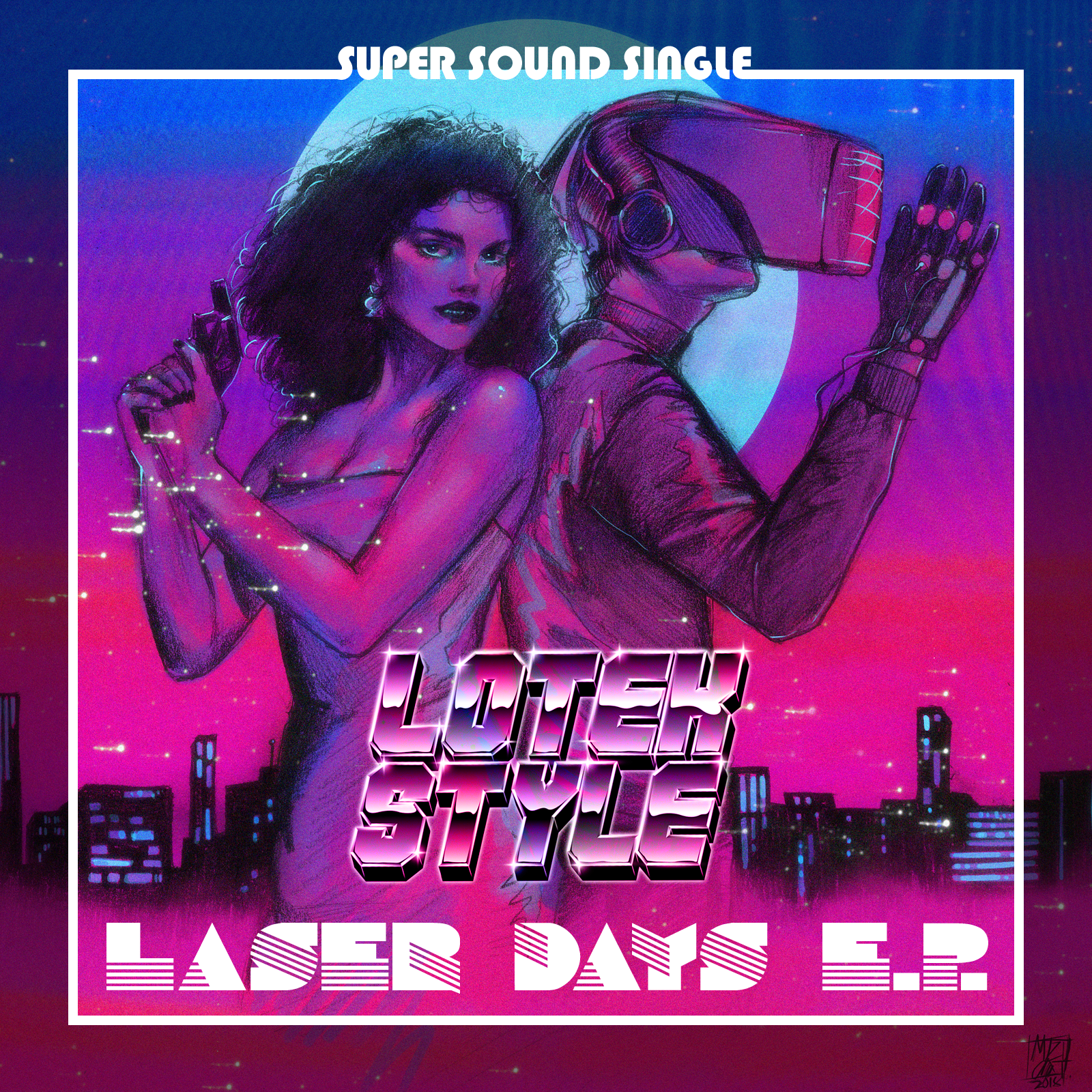 The final version of the Laser Days artwork looks amazing. Drawn by artist Mizucat.