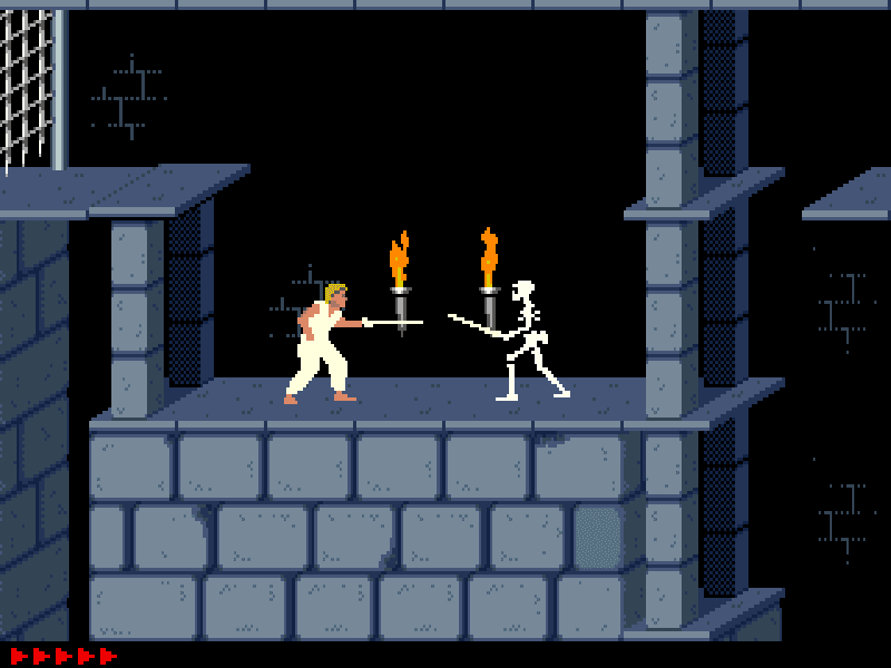 This is Prince of Persia on the Amiga.