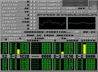 Pro-Tracker on the Atari ST.