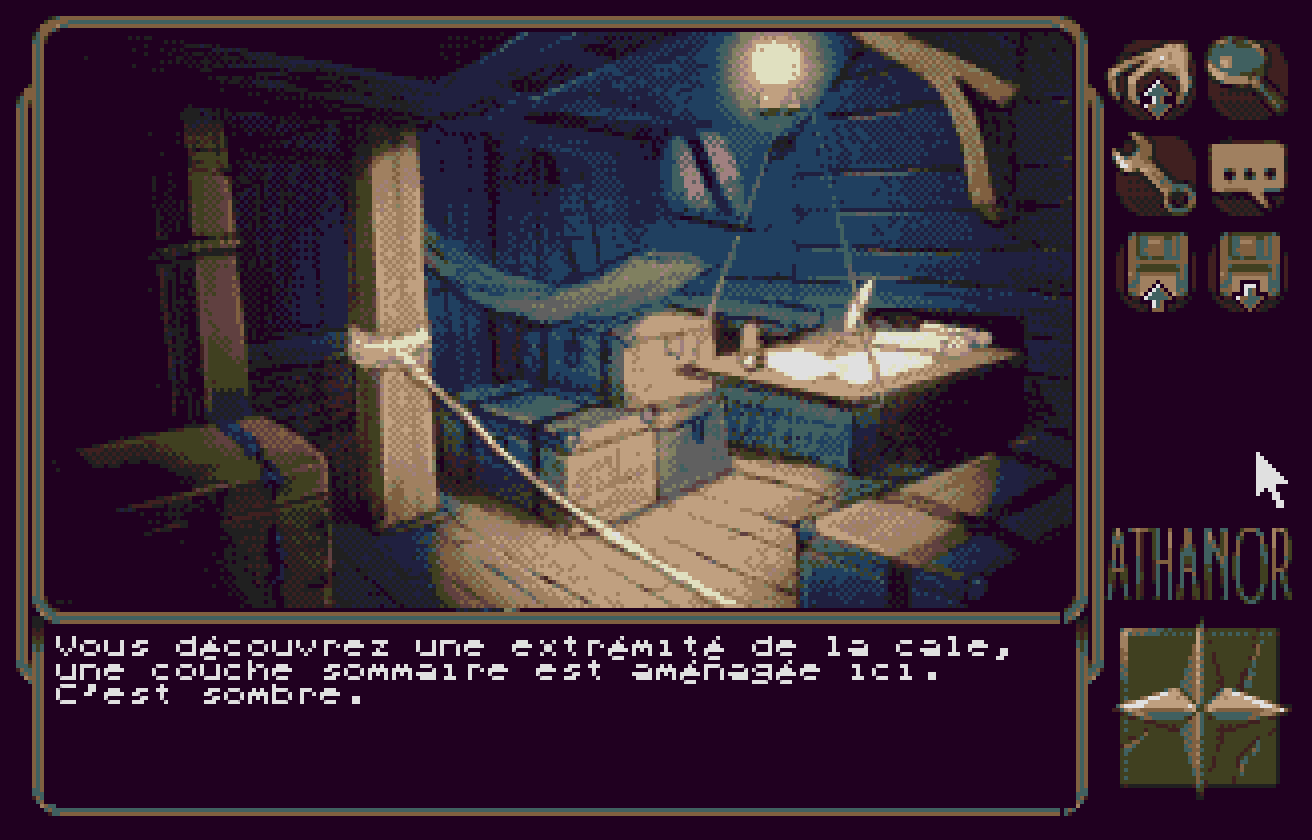 A screenshot for the upcoming graphic adventure game Athanor 2.