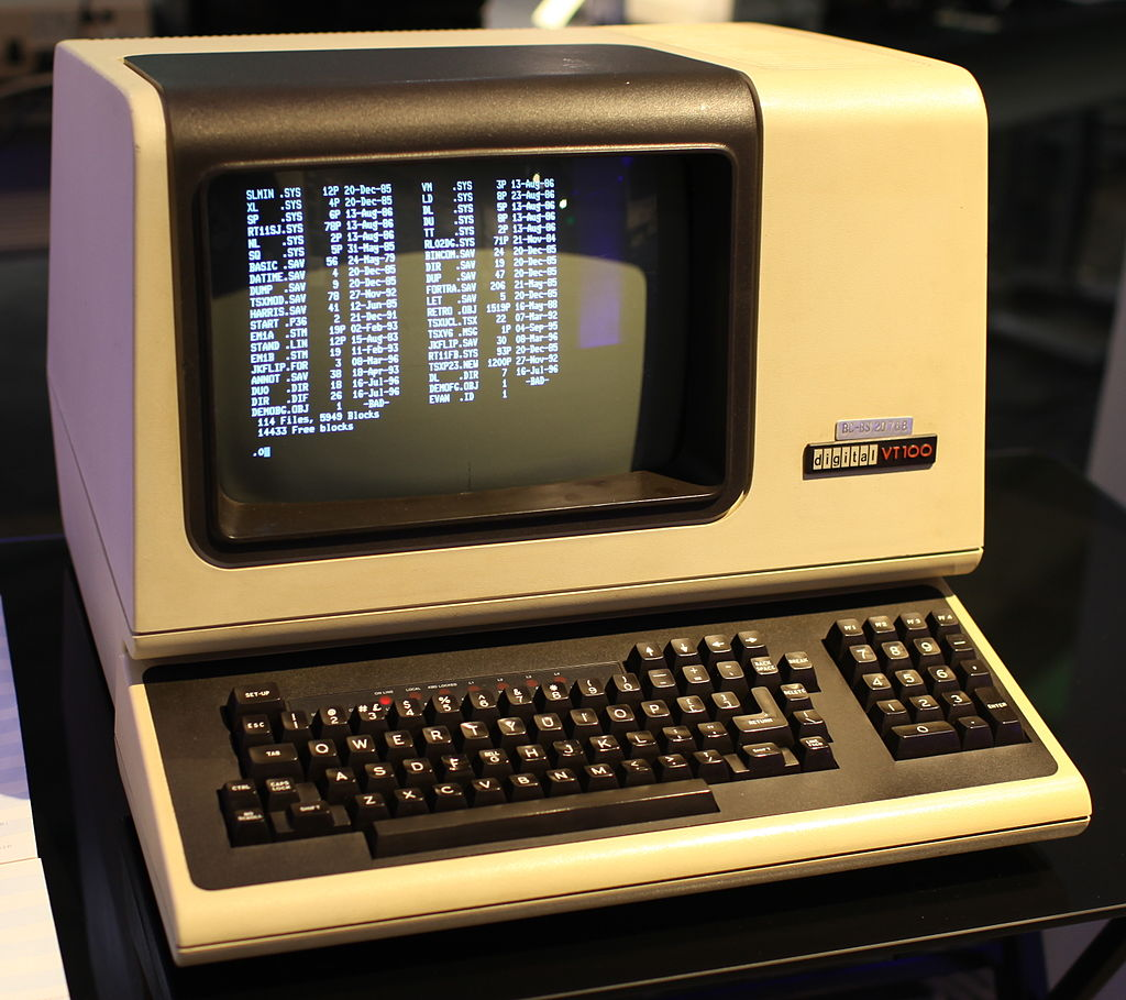 The VT100 terminal. The first computer Karl ever fiddled with.