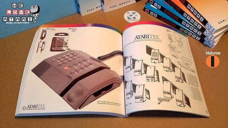 Did you know Atari was in the phone business? And that their phones were designed by 'Porsche Design'? One of the many pages from the wonderfull 'We Love Atari' books.