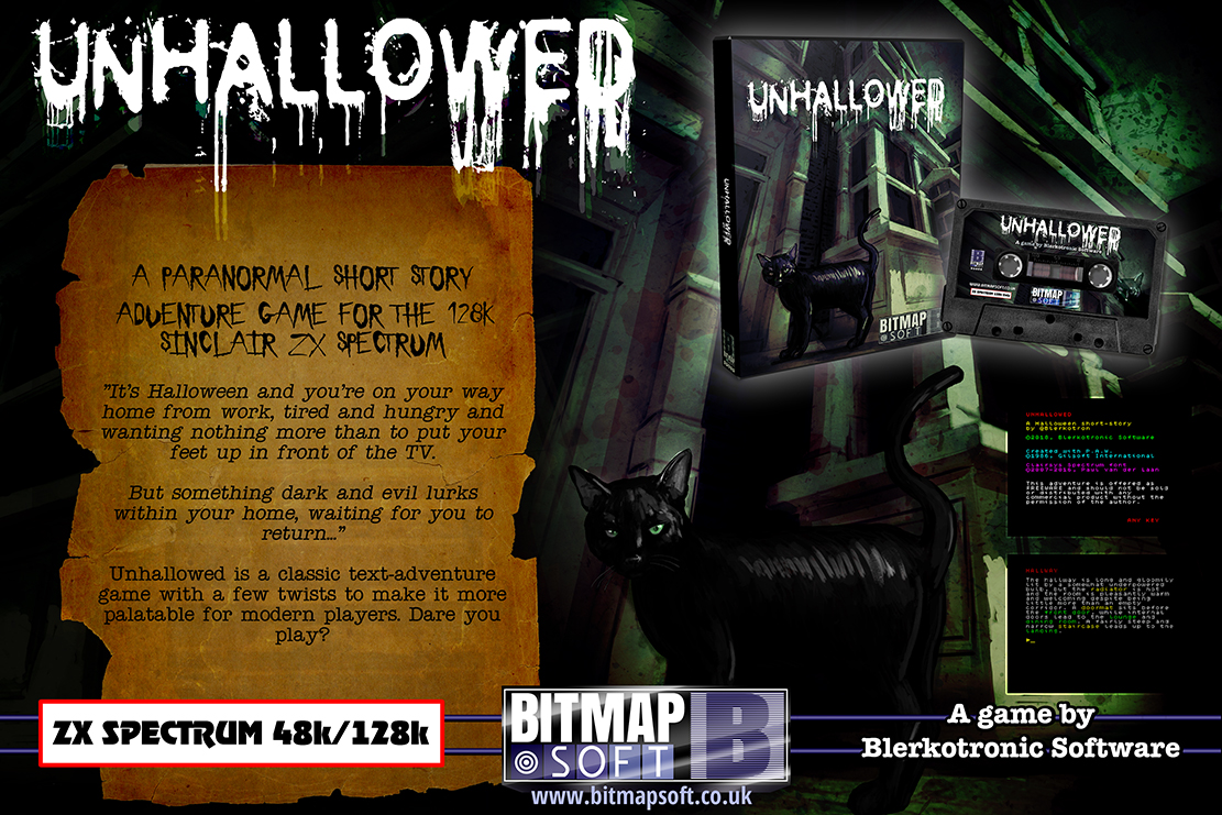 'Unhallowed' is the latest release under the BitmapSoft label, with artwork by none other than Simon Phipps.