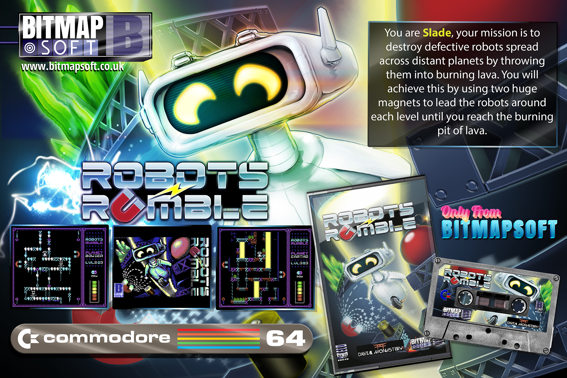 As you can see, BitmapSoft releases gorgeous physical versions of the games. And the promotional flyer by Darren is breathtaking.