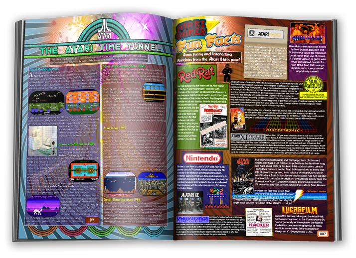 Another page from Atari Gamer magazine. The beautiful visual style is Darren's trademark.