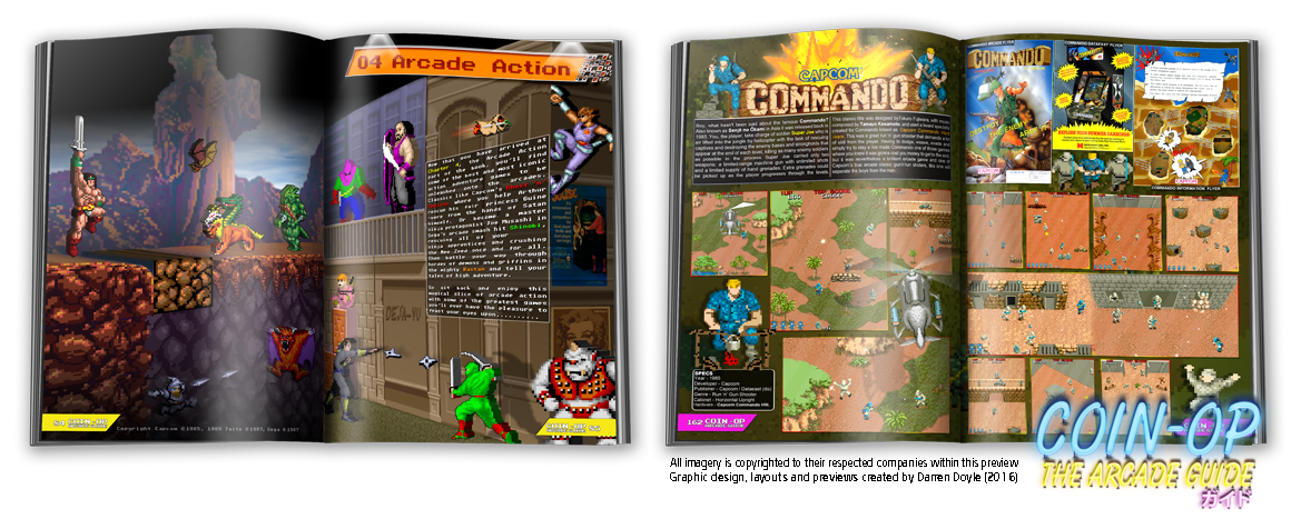 2 full pages of arcade action.