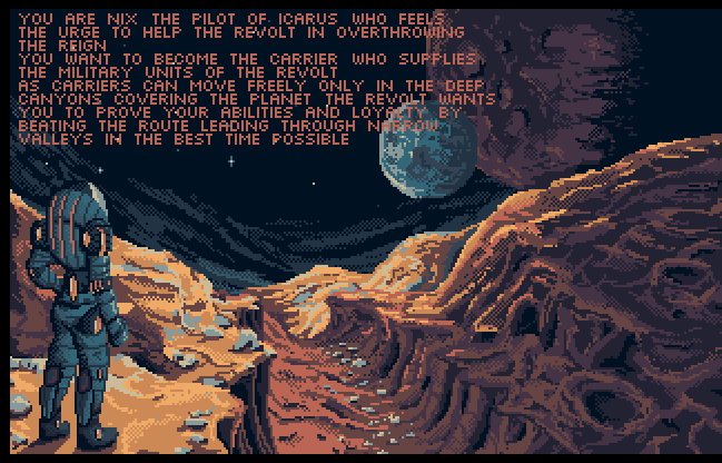 You can read a bit of VergeWorld: Icarus backstory while admiring this INCREDIBLE view!