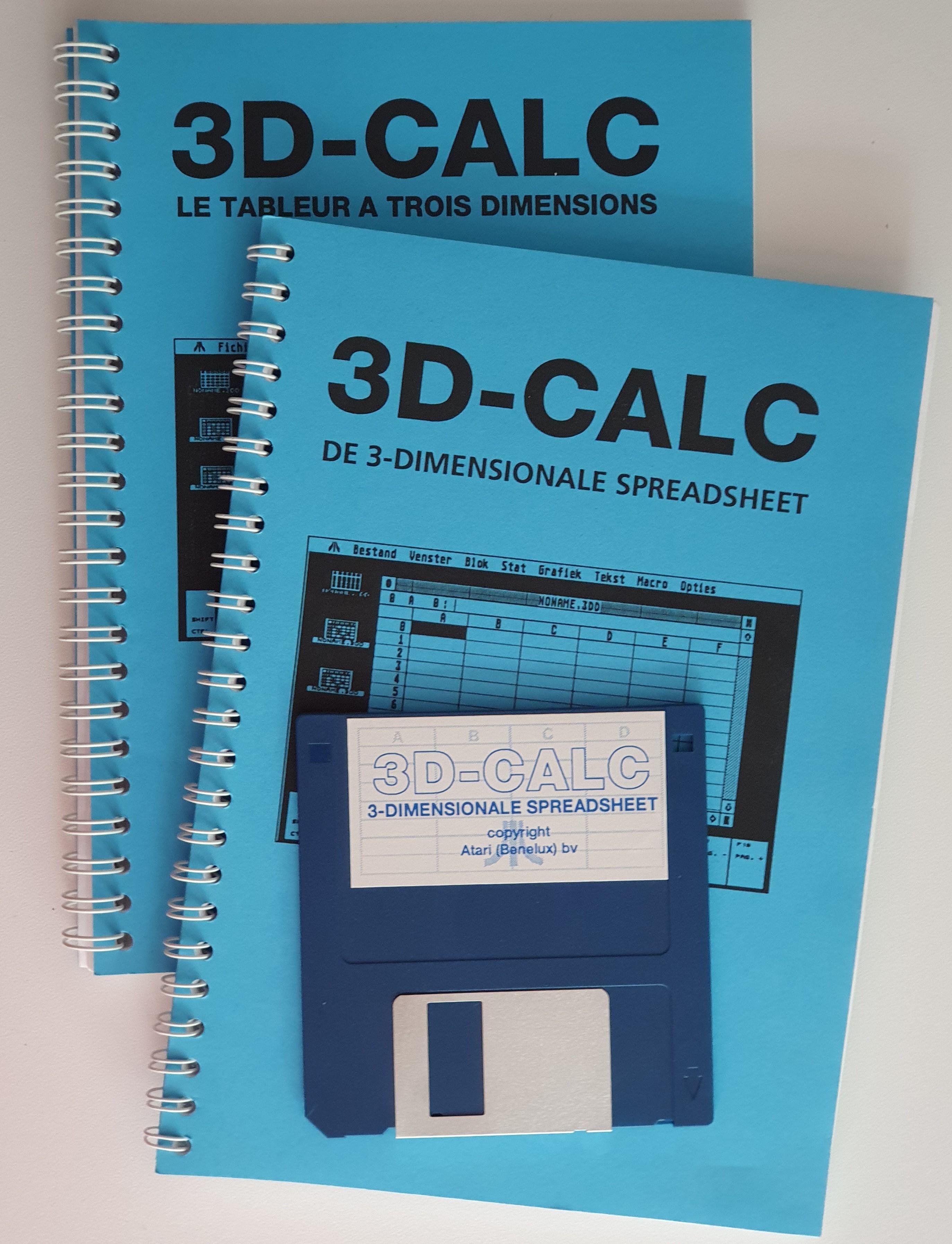 The Atari Benelux release of 3D-Calc.