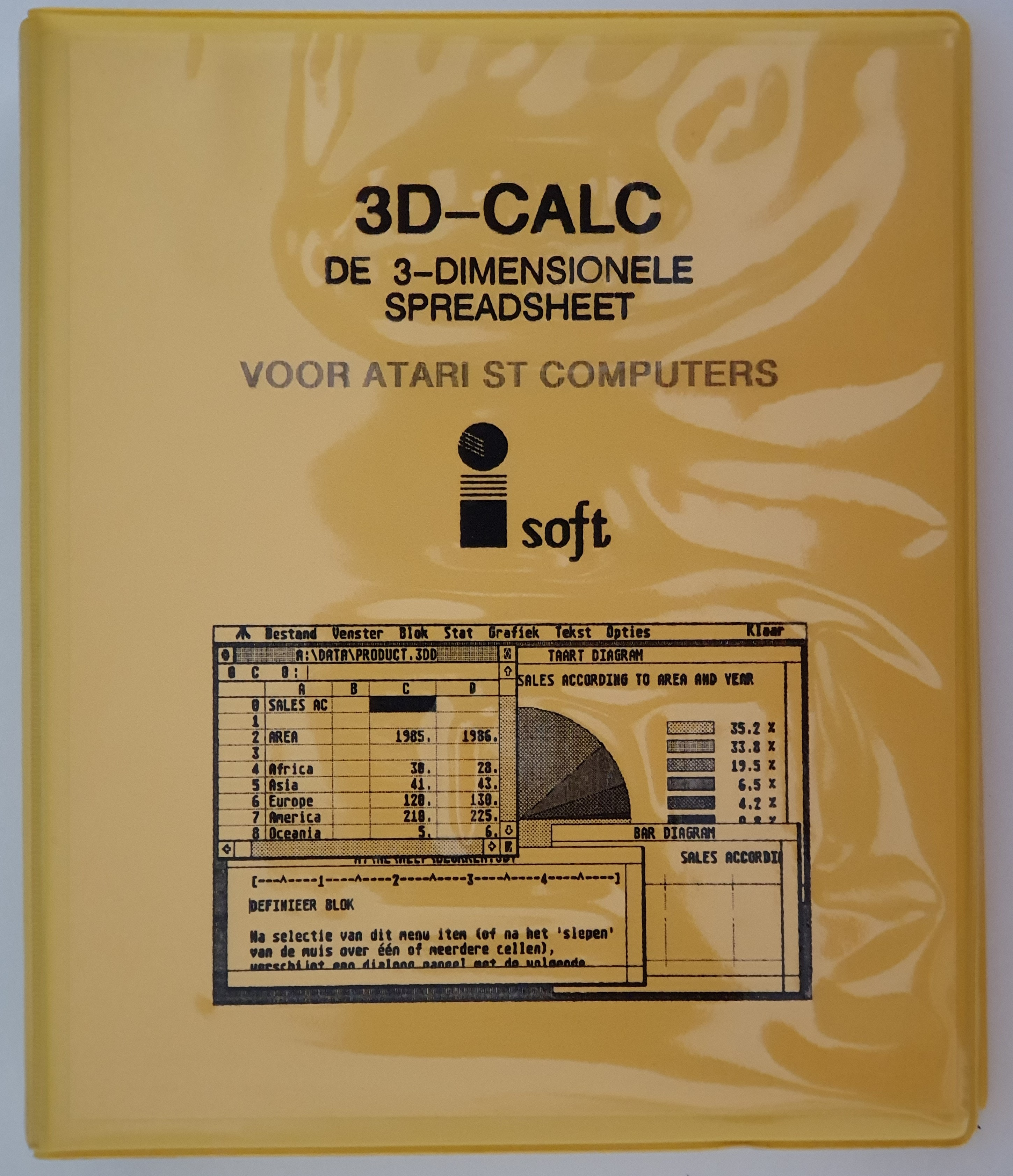 The very first release of 3D-Calc, together with Johan Lammens.