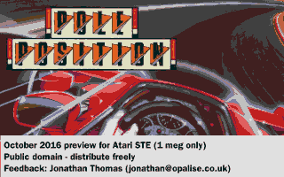Pole Position was the first STE game by Jonathan.