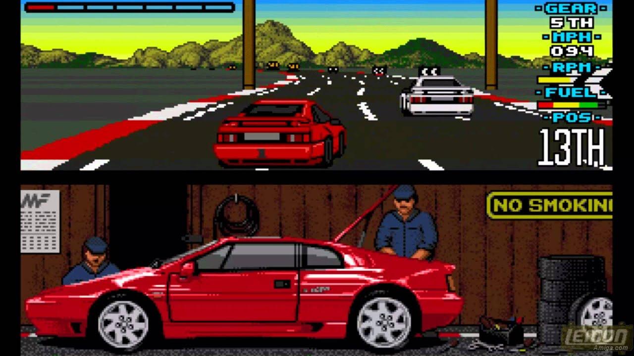 The Amiga version of Lotus Esprit Turbo Challenge