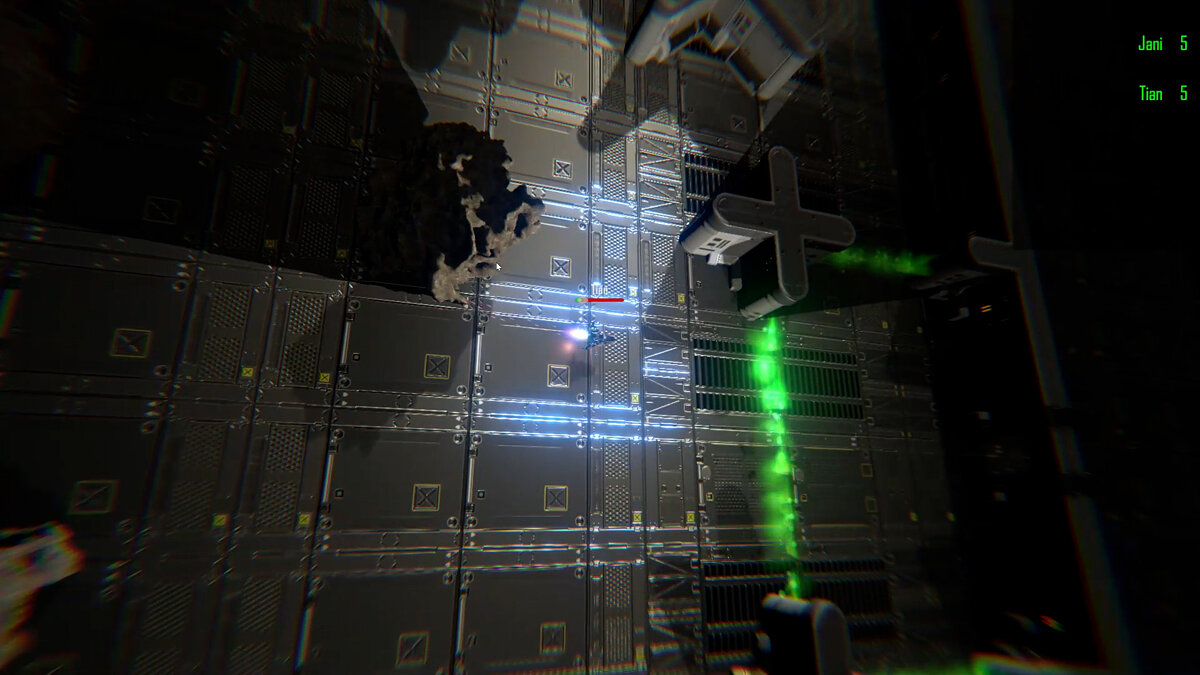 This is the new version of Utopos. Multilplayer shoot 'em up madness.