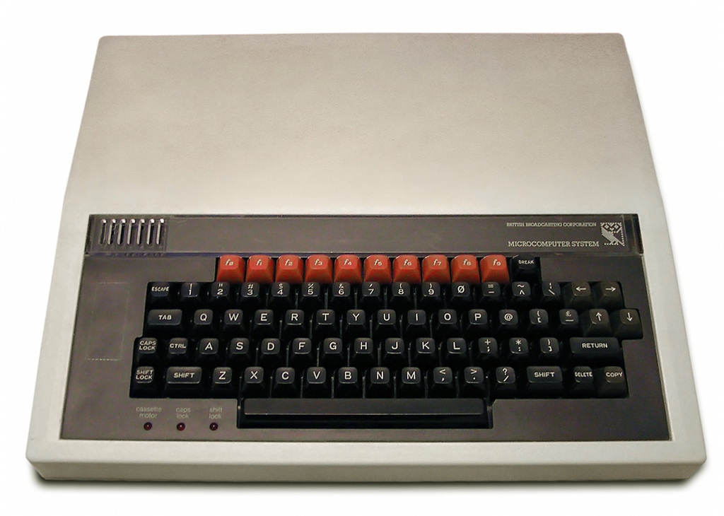 The standard BBC Micro, the first computers for Jamie. He used them at school and was instantly fascinated.
