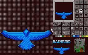 The graphics for Droid were made in Rainbird's Advanced OCP art studio.