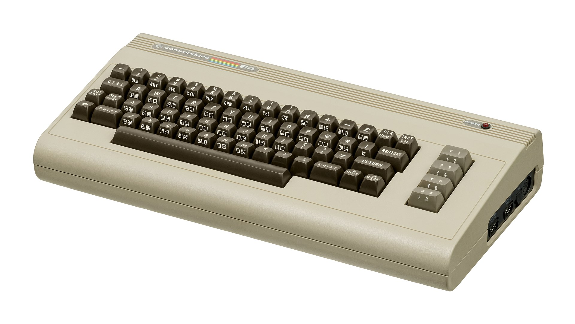 The C64 Breadbin, the best selling computer of the 80's.