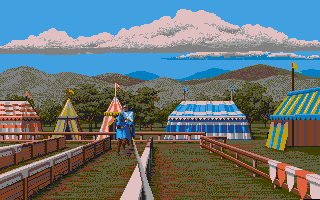 The famous jousting sequence in the Cinemaware classic Defender of the Crown, the first game Anders played on his ST.