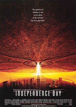 Independence Day, similar concept, but 2 years after Zero-5. Clearly a rip off! ;-)