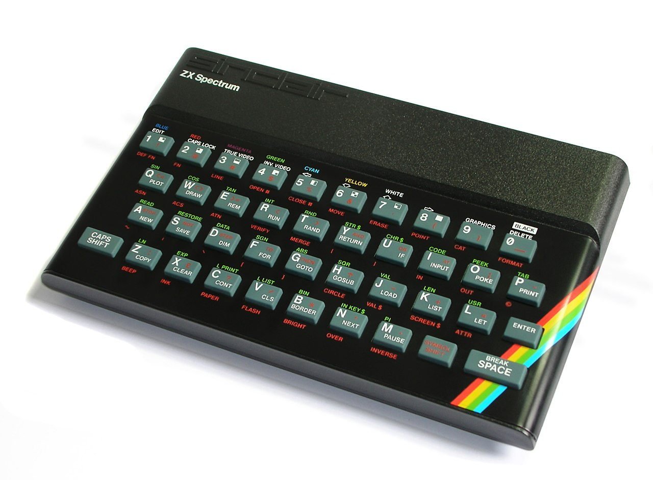 The ZX Spectrum. Of course Marcus learned to program on this thing, who didn't back in the day?
