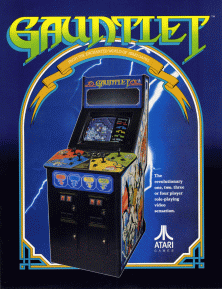 The amazing Gauntlet cab. This game was a big inspiration for Marcus his future work.