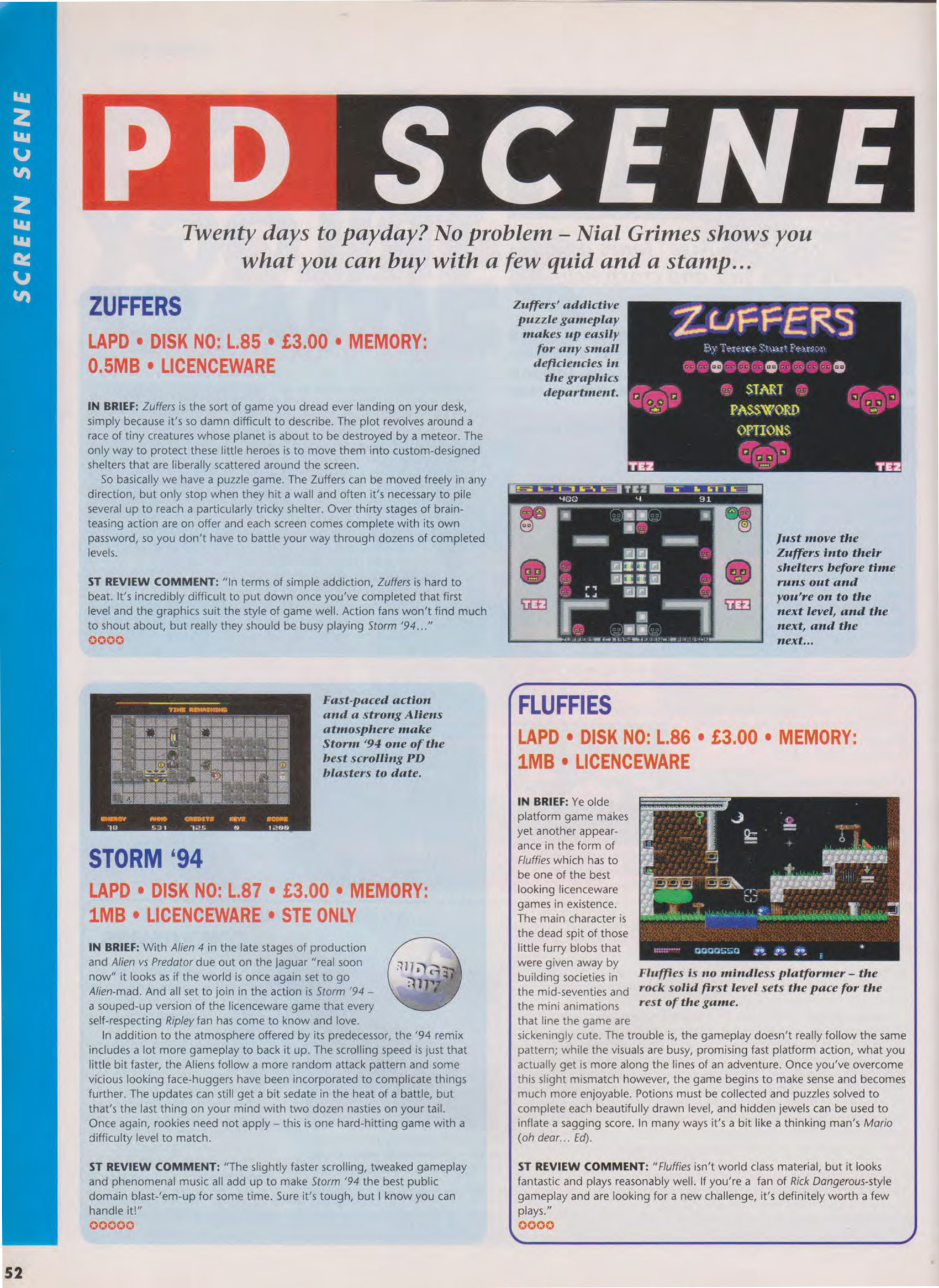 ST Review issue 27 covered STORM 94 in more detail and highly recommended the game.