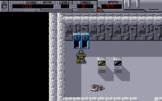 For the graphics in this version of the game, Robin was inspired by Dan Malone, of Bitmap Brothers fame.