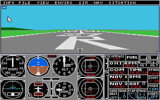 The first game Matthieu ever coded was a flight simulator, but in the end it didn't look anything like it. Depicted here is the mother of all flight simulators, FS2.