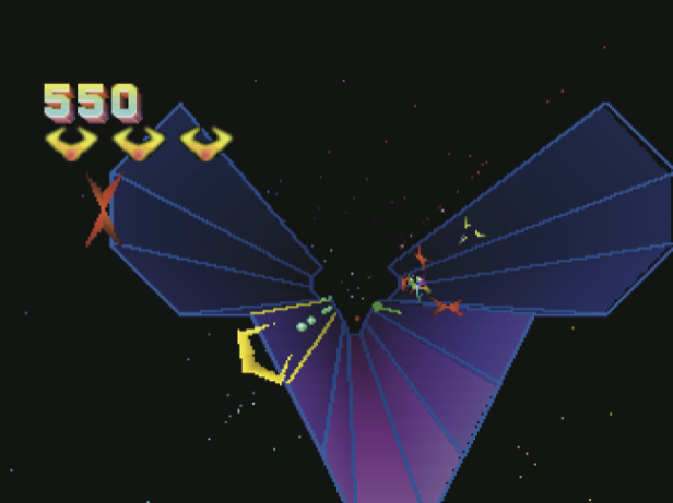 Tempest 2000 on the Jaguar. And absolute Jeff Minter classic and one of Matthieu's favourite games.