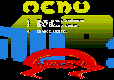 Screenshot of disk