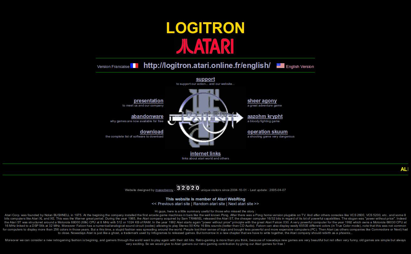 Screenshot of website Logitron