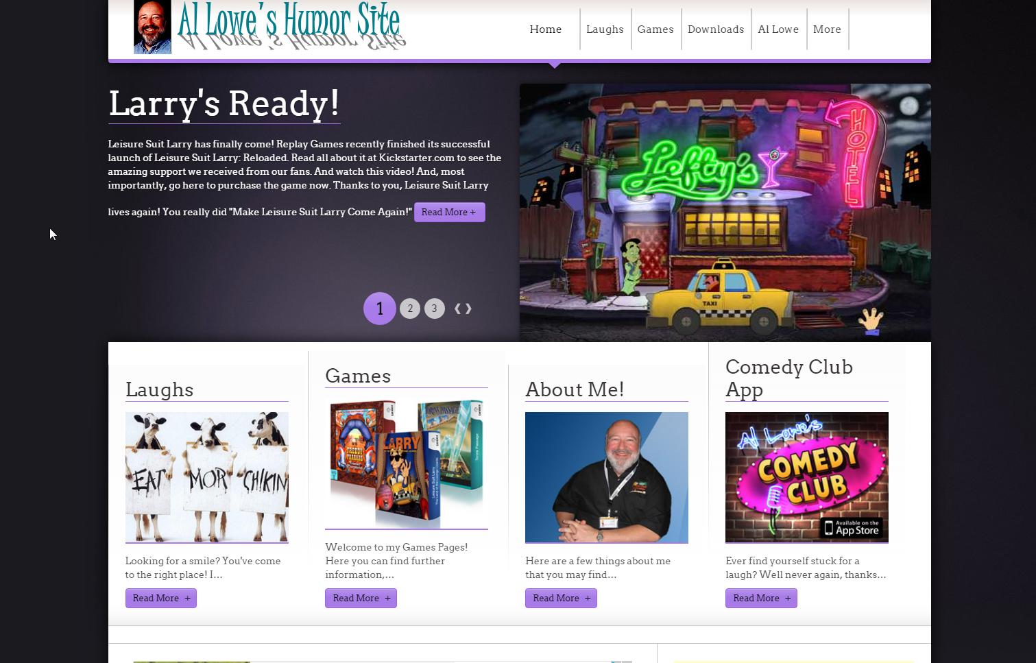 Screenshot of website Al Lowe's Humor Site