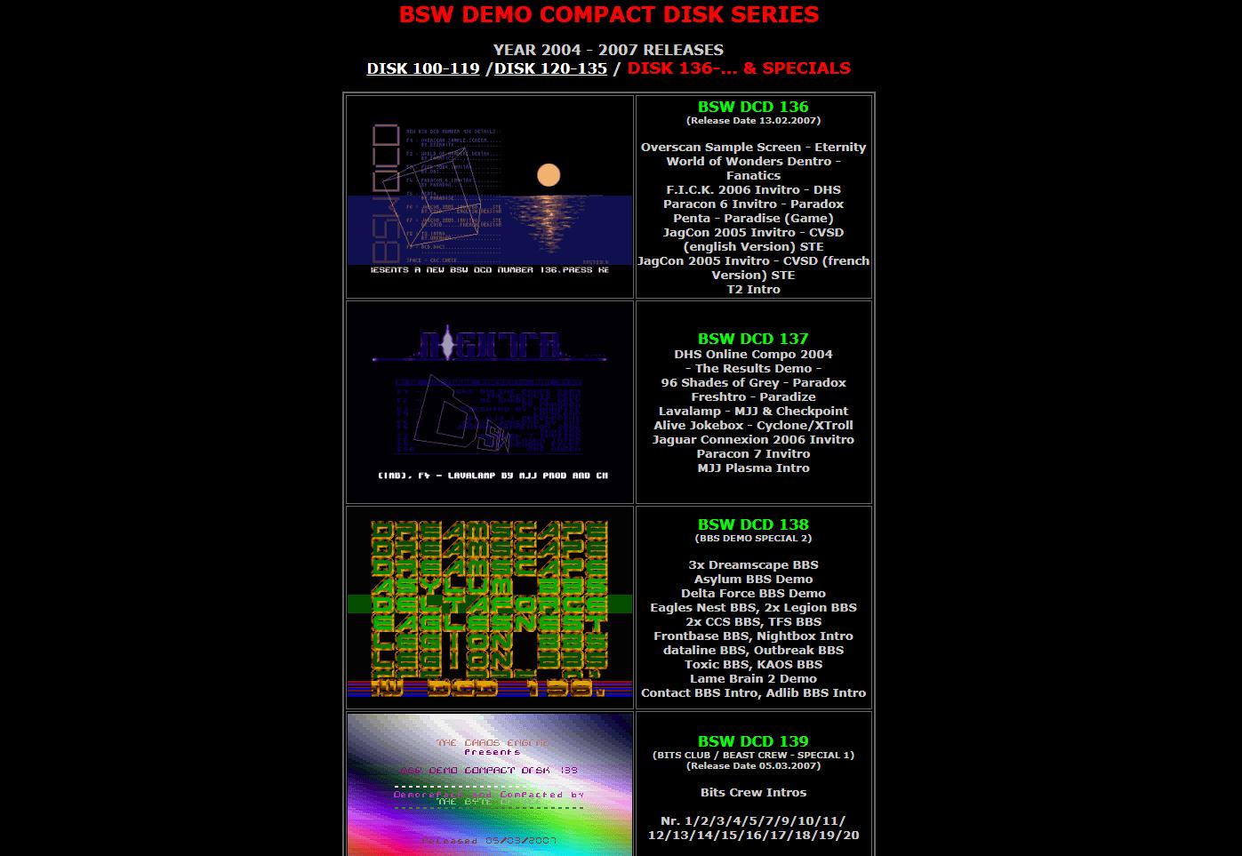 Screenshot of website BSW DCD DOWNLOAD PAGE