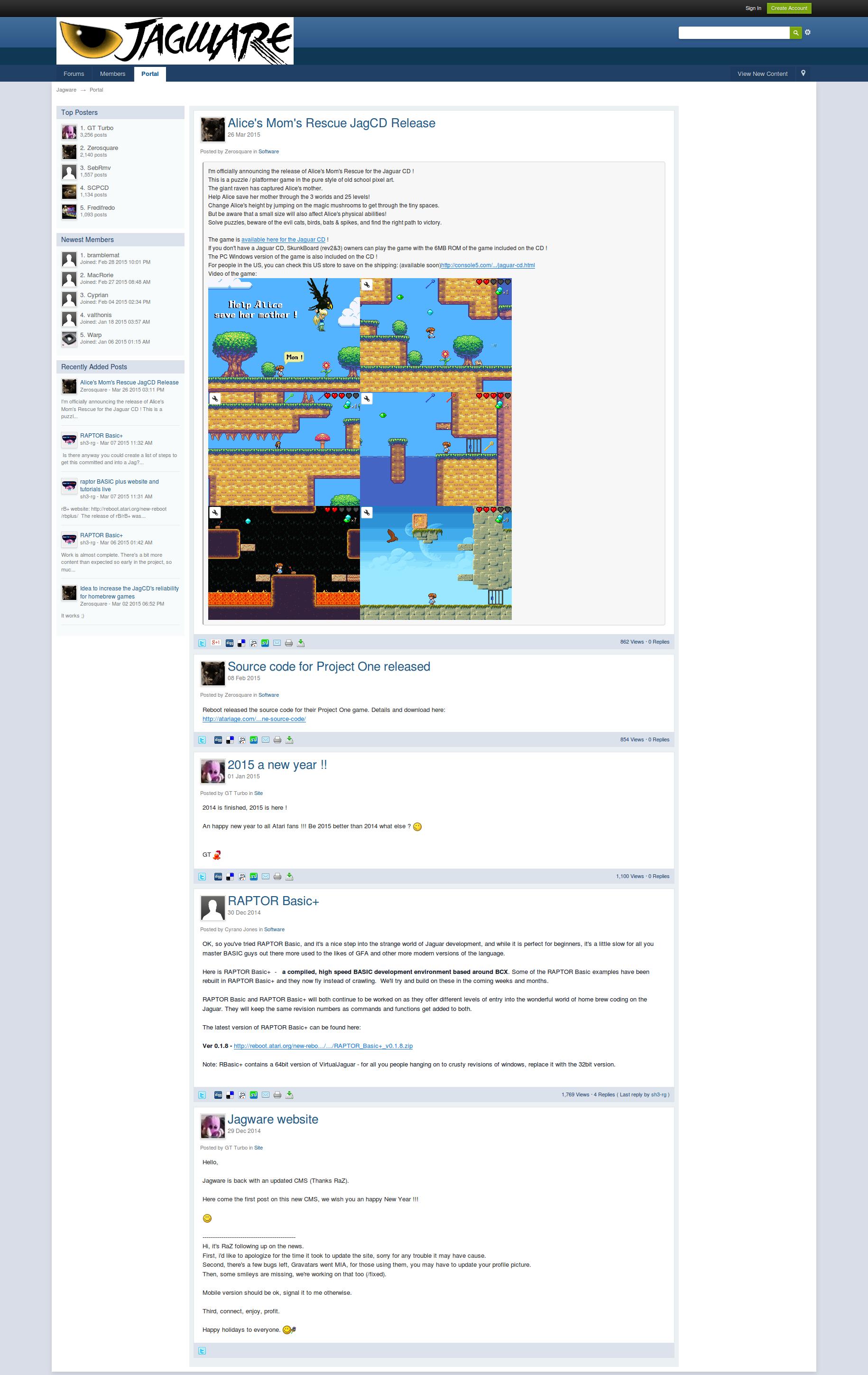 Screenshot of website Jagware