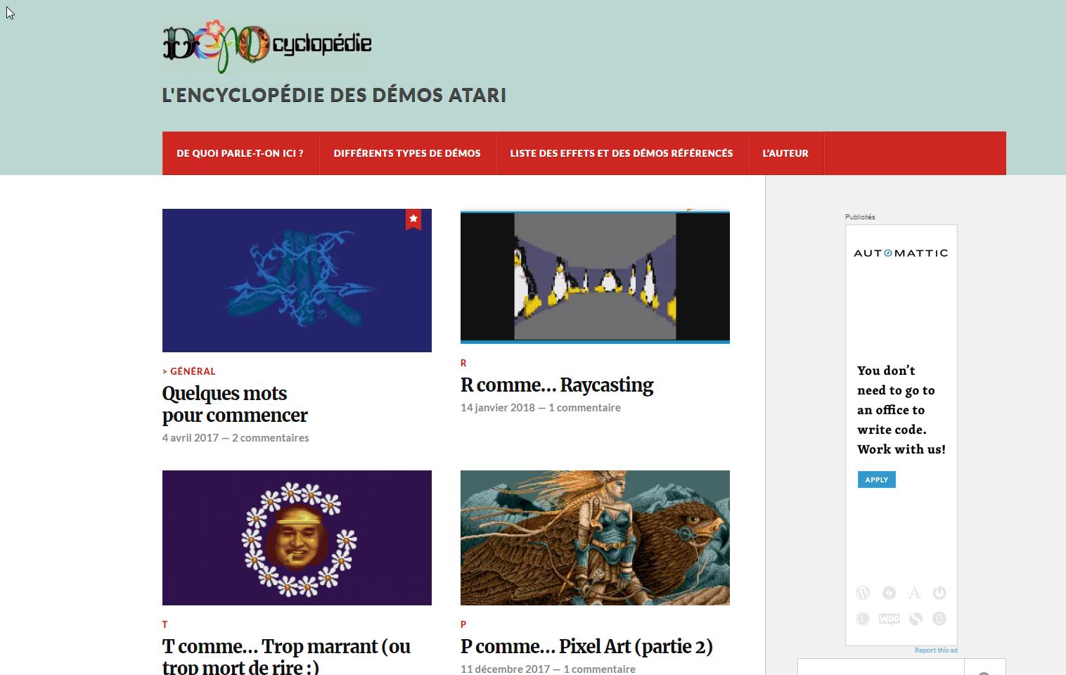 Screenshot of website StSurvivor Demo Blog