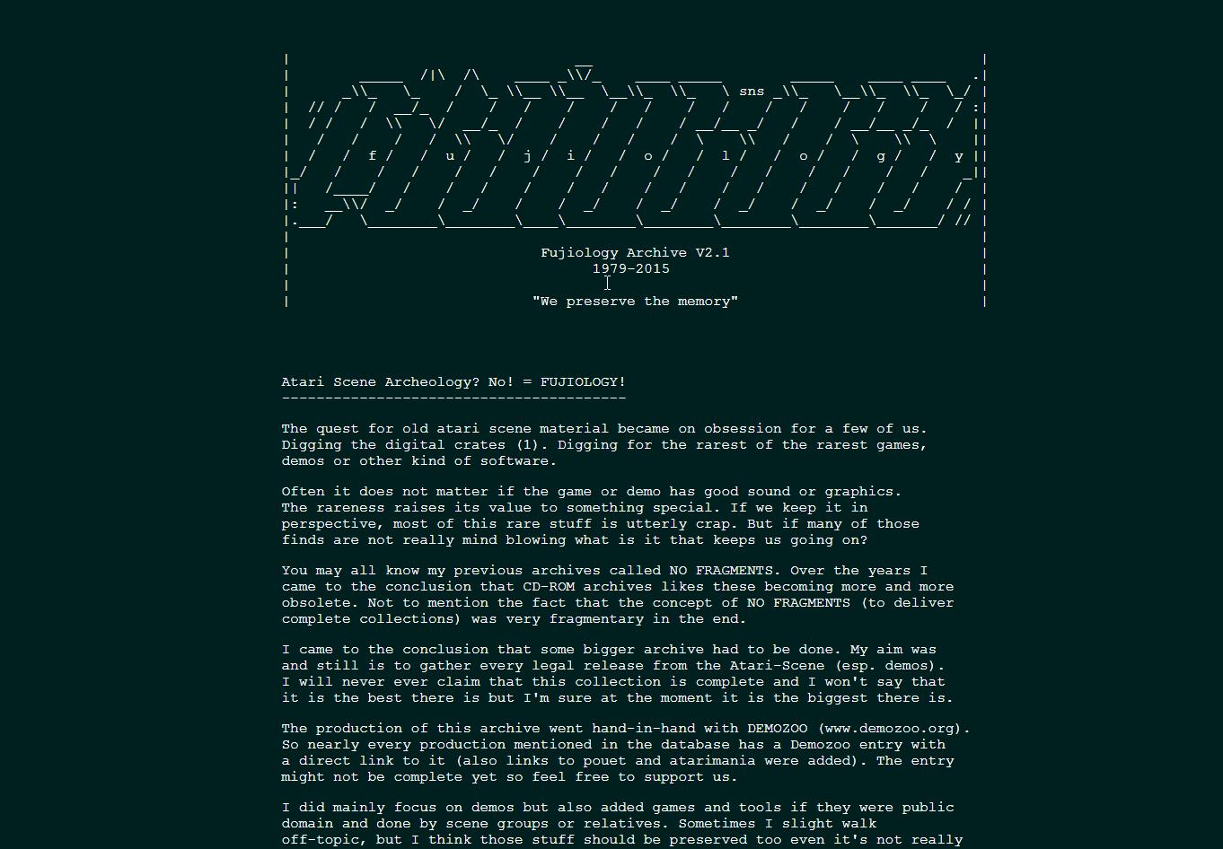 Screenshot of website Fujiology