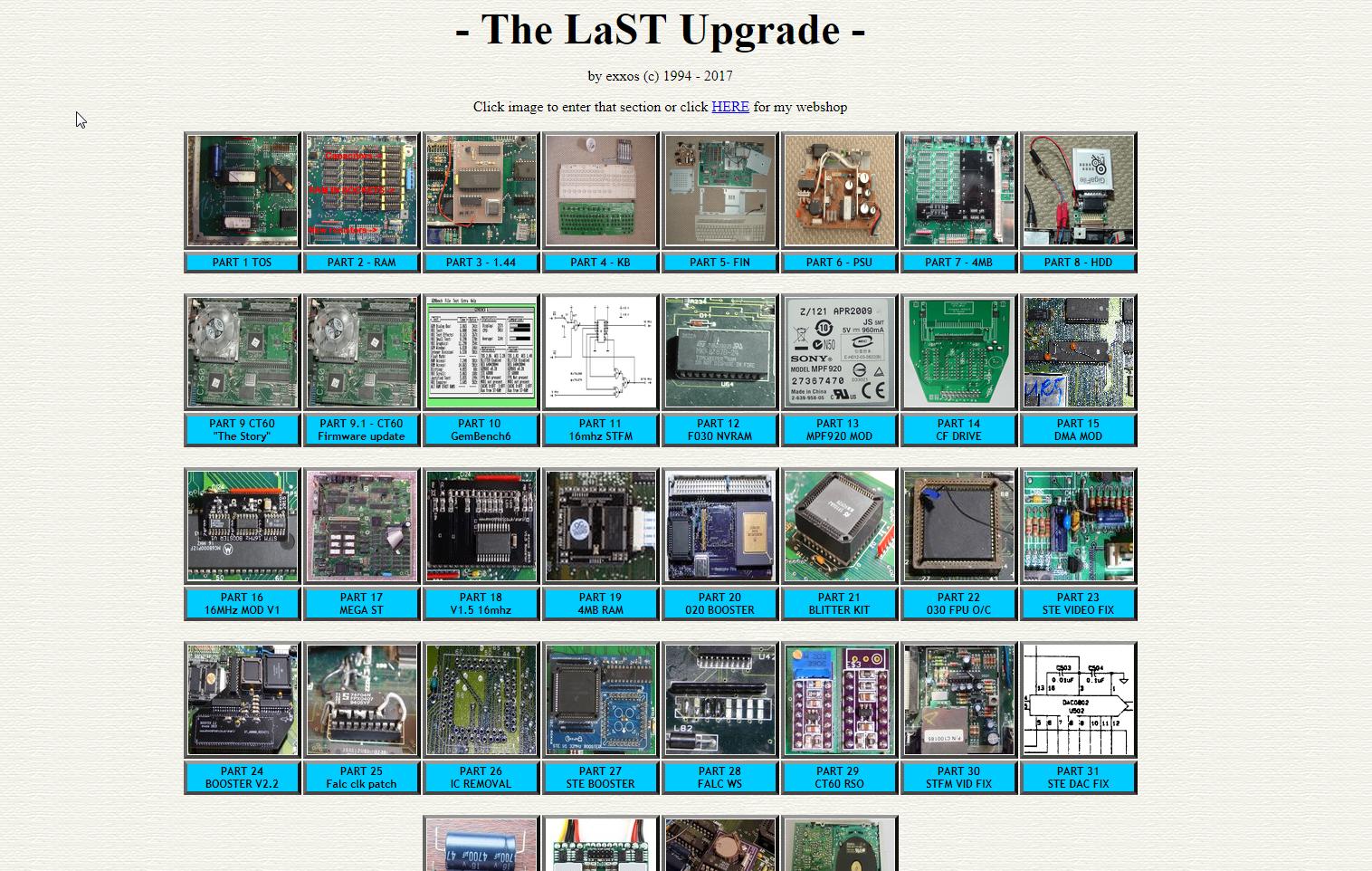 Screenshot of website The LaST upgrade
