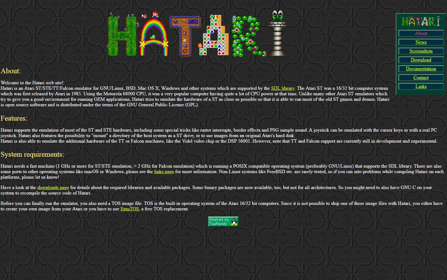 Screenshot of website Hatari