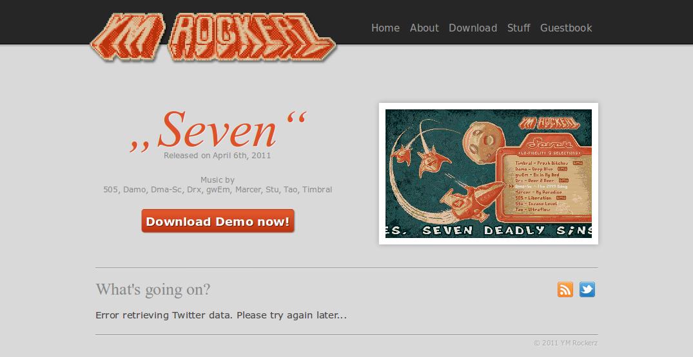 Screenshot of website YM Rockerz